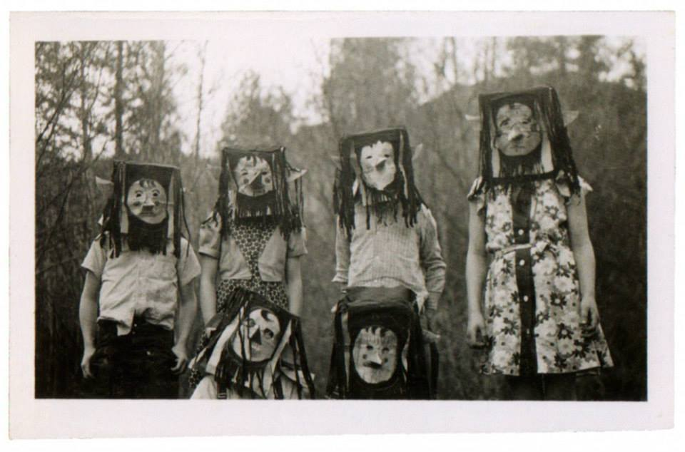 Vintage Halloween, scary photos in black and white