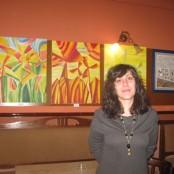 Soraya Estefana en su exposición de Valdepeñas, nov 2012