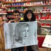 Taller de pintura Soraya Estefana Gómez Valdepeñas 2015 7 @SorayARTgallery