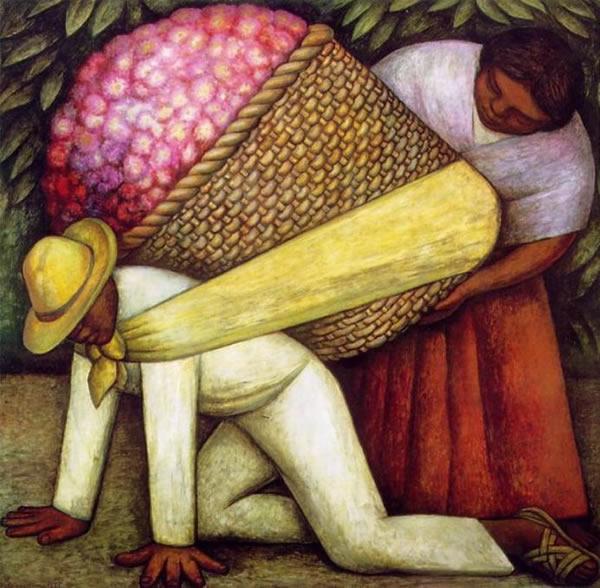 Diego de Rivera Cargador de flores