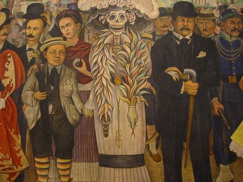 Diego de Rivera Sueño de una tarde dominical en la Alameda Central detalle